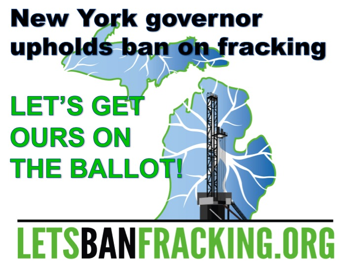 NY Bans fracking with CBFM logo