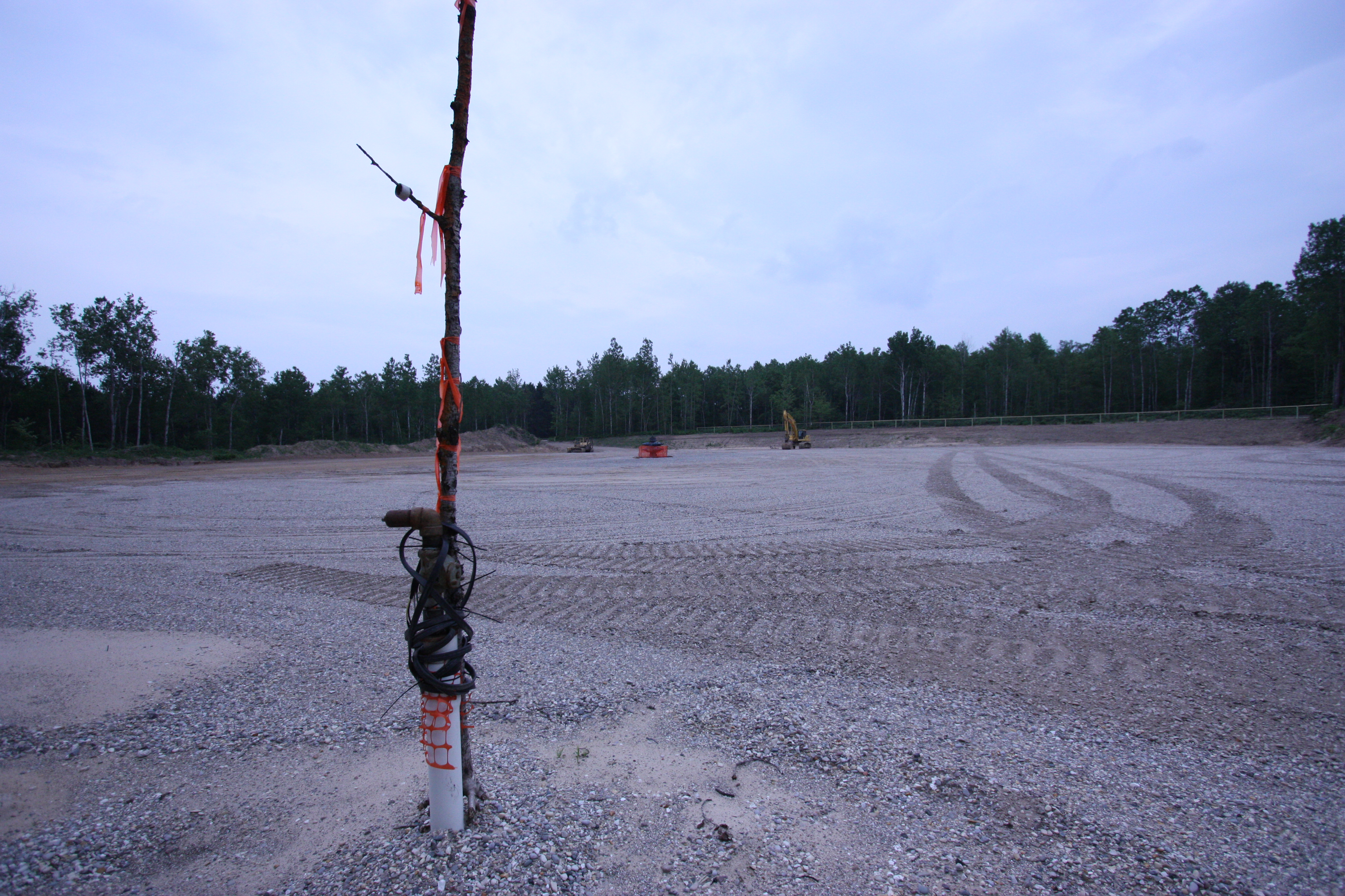 Water well drilled on the site of the Mancelona 1-28 HD1 horizontal frack well, on state forest land. The frackers use public groundwater for free.