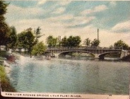 "The Flint River depicted in a 1920 post card. The writer of the card says of Flint on the back, ""This is a beautiful clean city."" Postcard courtesy LuAnne Kozma."